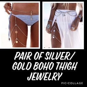 Jewelry - Boho Gold &Silver Coin Leg Thigh Harness Jewelry